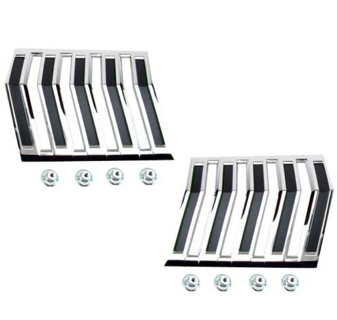 1964 Ford Falcon & 1965 Ranchero Deluxe Quarter Panel Chevron Emblems, Pair, NEW