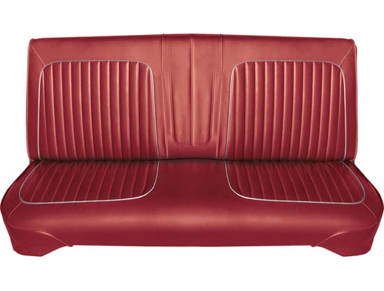64 Falcon Futura 4 Door Sedan & 4 Door Station Wagon Front Bench Seat Upholstery, Red