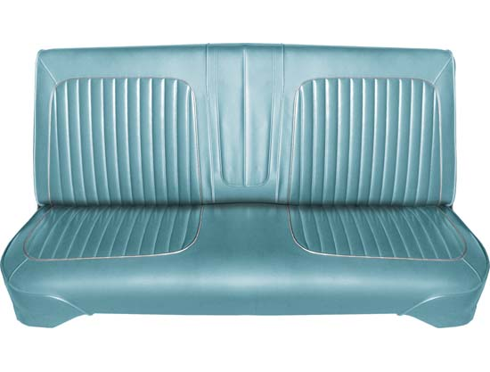 64 Falcon Futura 4 Door Sedan & 4 Door Station Wagon Front Bench Seat Upholstery, Turquoise