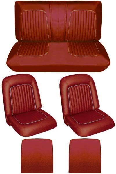 64 Falcon Futura Convertible Full Upholstery Set w/ Buckets, Red