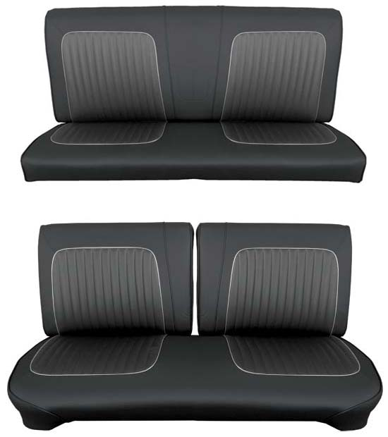 64 Falcon Futura Hardtop Full Upholstery Set w/ Split Bench Seat, Leather