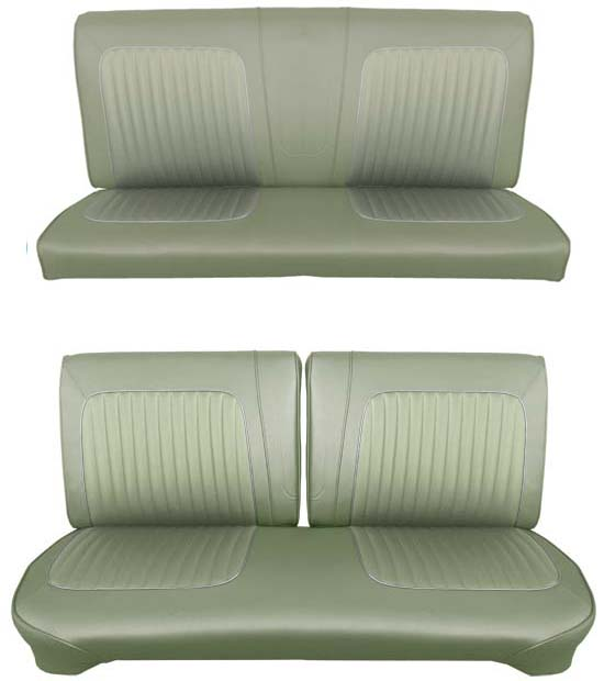 64 Falcon Futura Hardtop Full Upholstery Set w/ Split Bench Seat, Ivy Gold Metallic