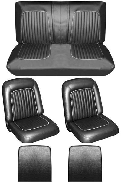 64 Falcon Futura Convertible Full Upholstery Set w/ Buckets, Leather