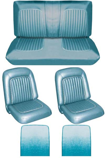 64 Falcon Futura Convertible Full Upholstery Set w/ Buckets, Turquoise