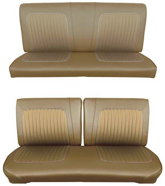 64 Falcon Futura Convertible Full Upholstery Set w/ Split Bench Seat, Palomino