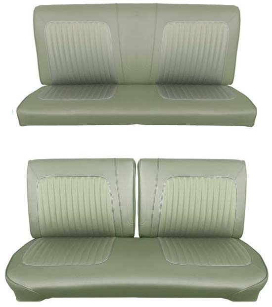 64 Falcon Futura Convertible Full Upholstery Set w/ Split Bench Seat, Ivy Gold Metallic
