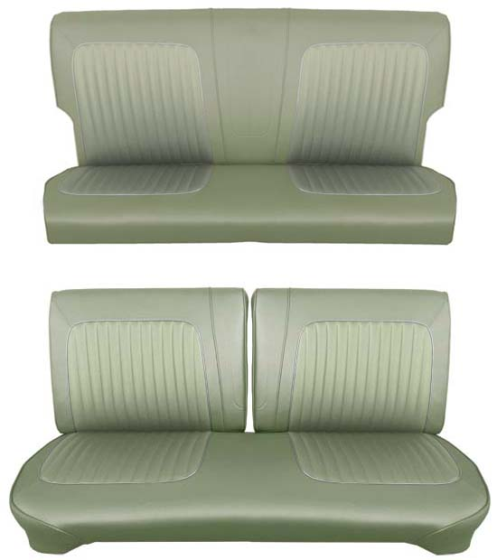 64 Falcon Futura 2 Door Station Wagon Full Upholstery Set w/ Split Bench Seat, Ivy Gold Metallic