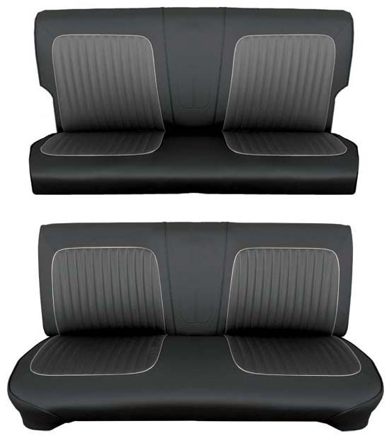 64 Falcon Futura 4 Door Station Wagon Full Upholstery Set w/ Bench Seat, Leather