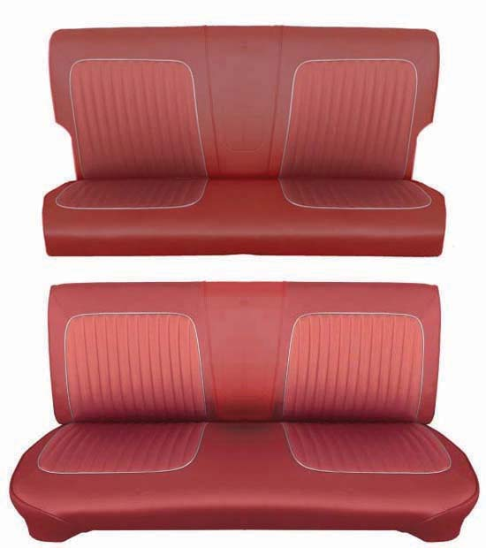 64 Falcon Futura 4 Door Station Wagon Full Upholstery Set w/ Bench Seat, Red