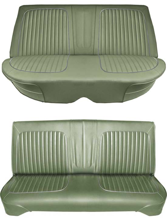 64 Falcon Futura 4 Door Sedan Full Upholstery Set w/ Bench Seat, Ivy Gold Metallic