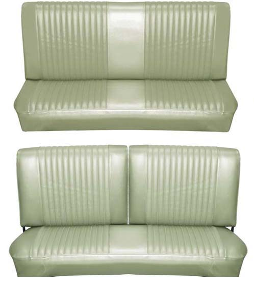 65 Falcon Futura Convertible Full Upholstery Set w/ Split Bench Seat, Ivy Gold Metallic
