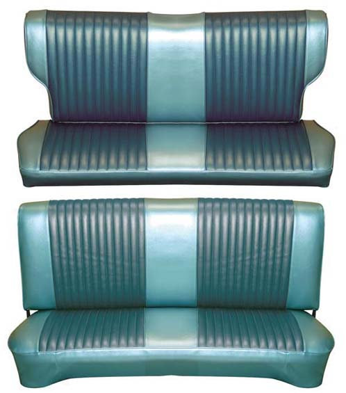 65 Falcon Futura 4 Door Station Wagon Full Upholstery Set w/ Bench Seat, Turquoise, Two Tone