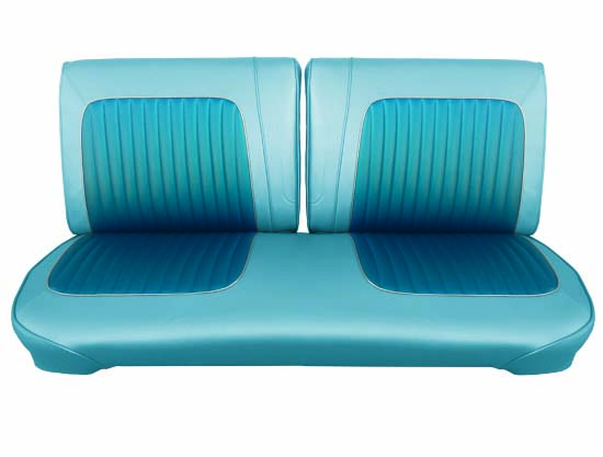 64 Falcon Futura Convertible Front Split Bench Seat Upholstery, Blue Metallic, Two Tone