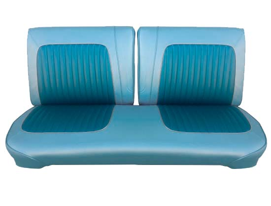 64 Falcon Futura Convertible & Ranchero Front Split Bench Seat Upholstery, Turquoise, Two Tone