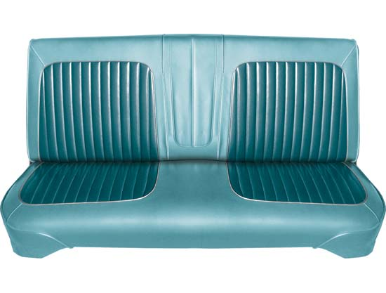 64 Falcon Futura 4 Door Sedan & 4 Door Station Wagon Front Bench Seat Upholstery, Turquoise, Two Tone