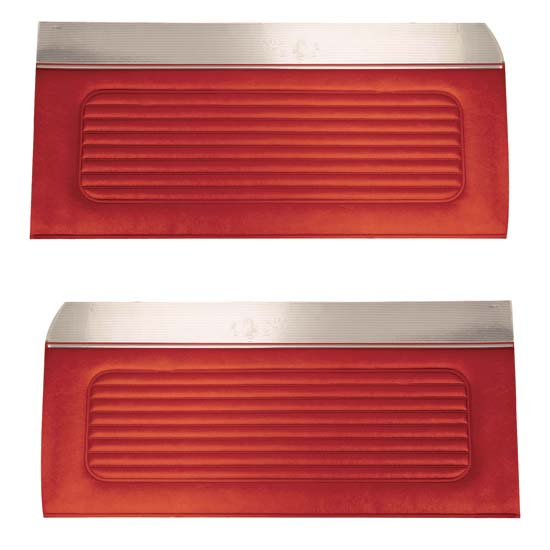 64 Falcon Futura 4 Door Sedan & Station Wagon Door Panels, Pair, Red