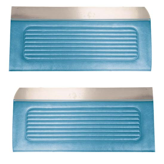 64 Falcon Futura 4 Door Sedan & Station Wagon Door Panels, Pair, Light Blue Metallic
