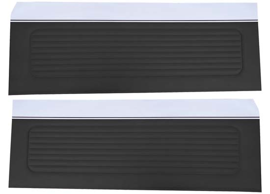 64 Falcon Futura Hardtop, Convertible & 2 Door Sedan Door Panels, Pair, Black
