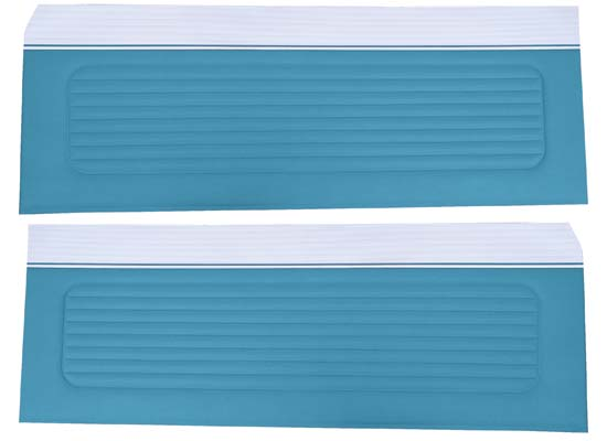 64 Falcon Futura Hardtop, Convertible & 2 Door Sedan Door Panels, Pair, Light Blue Metallic