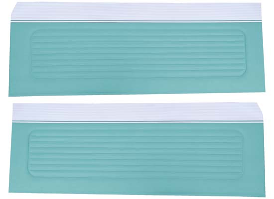 64 Falcon Futura Hardtop, Convertible & 2 Door Sedan Door Panels, Pair, Turquoise