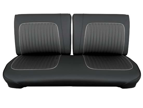 64 Falcon Futura Convertible Front Split Bench Seat Upholstery, Black