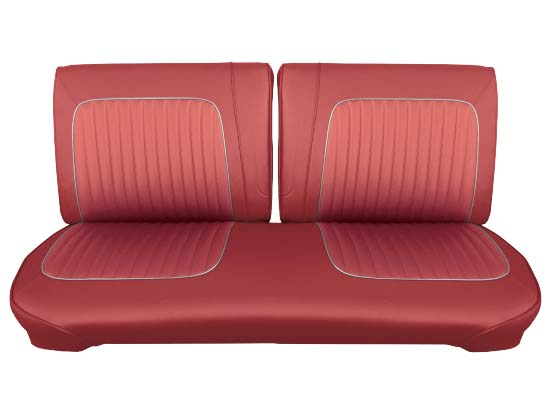 64 Falcon Futura Convertible Front Split Bench Seat Upholstery, Red