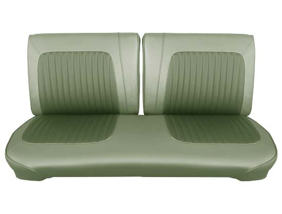 64 Falcon Futura Convertible Front Split Bench Seat Upholstery, Ivy Gold Metallic