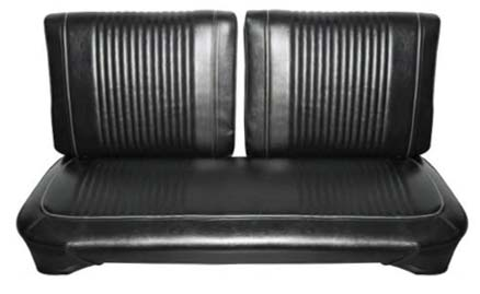 63 Comet Custom Hardtop & 2 Door Sedan Front Split Bench Seat Upholstery, Black