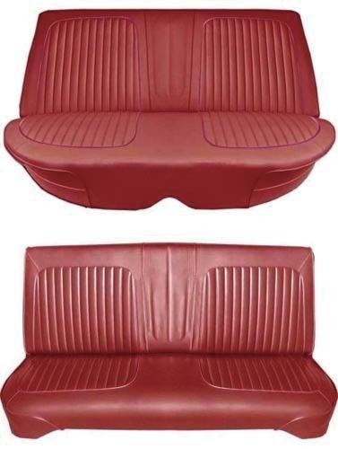 64 Falcon Futura 4 Door Sedan Full Upholstery Set w/ Bench Seat, Red
