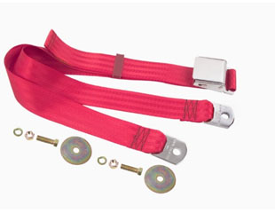 "60-70� Falcon Aftermarket 74"" Seat Belt, Bright Red"