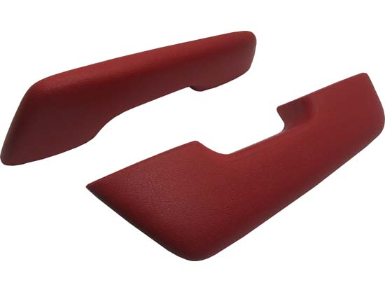 60-64 Falcon Armrests, Standard, Red, Pair