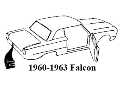 6065 Falcon Windshield Seal Sedan Ranchero P 16300 together with Exterior Pads Seals Trunk Seal C 3166 3167 3168 likewise  on 1963 ford interior colors
