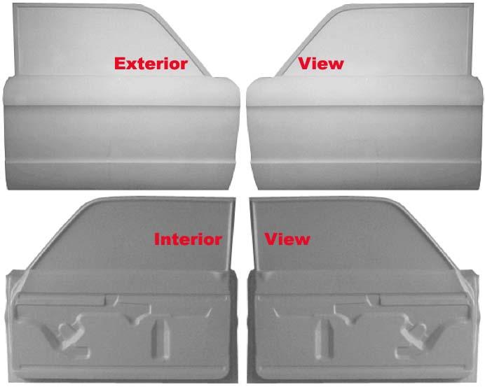 60 63 Falcon Front Doors Pair Fiberglass Race Weight Version Usb